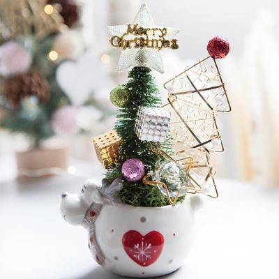 루돌프 라인 트리화분 19cmP 트리 크리스마스 TRFAHM