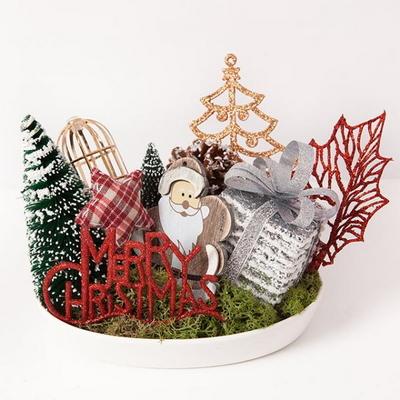 우드 산타 타원수반 23cmP 트리 크리스마스 TRFAHM