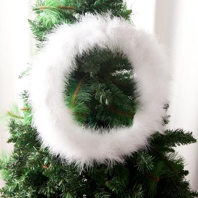 화이트 밍크 리스 300Ø(mm) 트리 크리스마스 TRWGHM