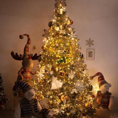 고급 골드설정별 300cm (양면) 풀세트 크리스마스트리