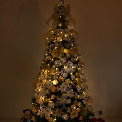 고급 믹스포인꽃 300cm (단면) 풀세트 크리스마스트리