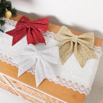글리터리본 17cm 트리 크리스마스 리본 장식 TRMBLS