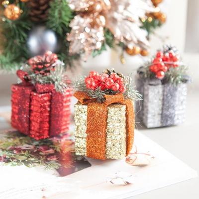 플레르 선물상자 6cm(2개입) 크리스마스 장식 TROMCG