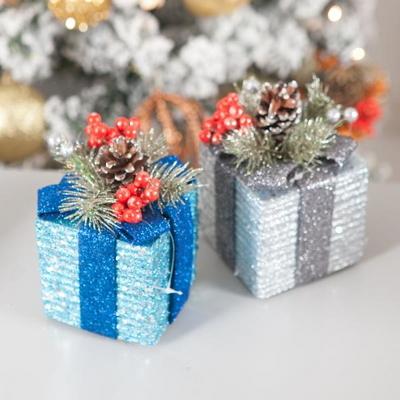 플레르 선물상자 9cm(2개입) 크리스마스 장식 TROMCG