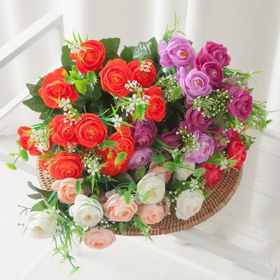 믹스동백부쉬 44cm 조화 성묘 꽃 인테리어 FAGAFT