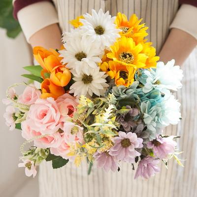 (3+사은품) 러블리 플라워 부쉬 6종 조화 인테리어 꽃