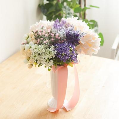 (3+사은품) 미니 플라워 부쉬 5종 조화 인테리어 꽃