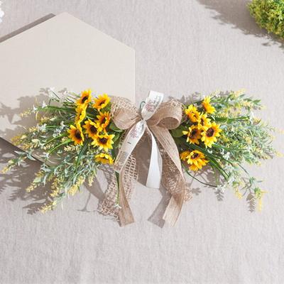 해바라기라벤다갈란드 51cmP 소품 인테리어 꽃 벽장식