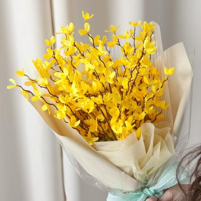 개나리 꽃다발 55cmP 조화 생일 축하 선물 FMBBFT