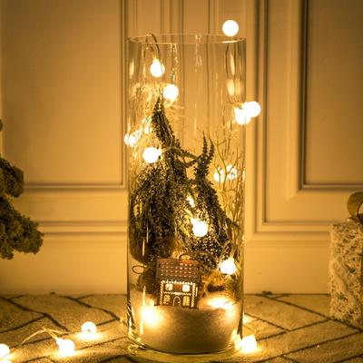 LED스노우하우스글라스 40cmR 크리스마스 장식 TRFAHM