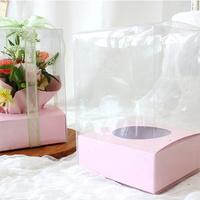 투명 꽃 포장 박스