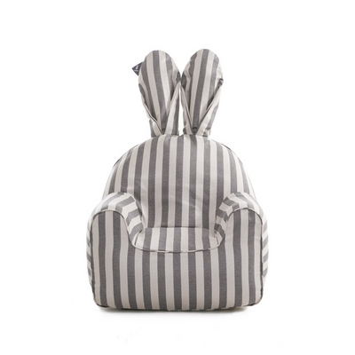 라비또체어 커버 rabito chair small cover - vintage gray stripe