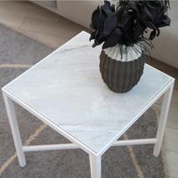 쏘니아 대리석 사이드 테이블(화이트)