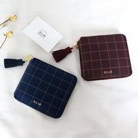 [스트랩 증정] D.LAB Check zipper wallet - 3 color
