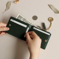 별자리 키링 증정 D.LAB Coin Half wallet  - Green