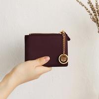 별자리 키링 증정 D.LAB Coin Half wallet  - Burgundy
