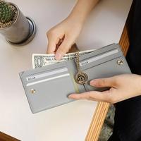 별자리 키링 증정 D.LAB Coin Half wallet  - Gray