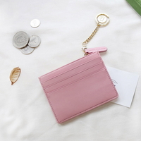별자리 키링 증정 D.LAB Coin simple card wallet  - Pink