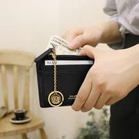 별자리 키링 증정 D.LAB Coin simple card wallet  - Black