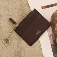 별자리 키링 증정 D.LAB Coin simple card wallet  - Burgundy