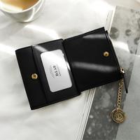 별자리 키링 증정 D.LAB Coin name card wallet - Black