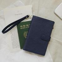 D.LAB  DH88 안티스키밍 Passport Wallet - Navy