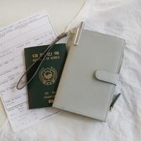D.LAB DH88 안티스키밍 Passport Wallet - Gray