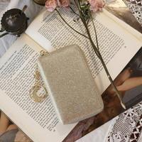 D.LAB Twinkle Zipper Wallet - Sand Gold