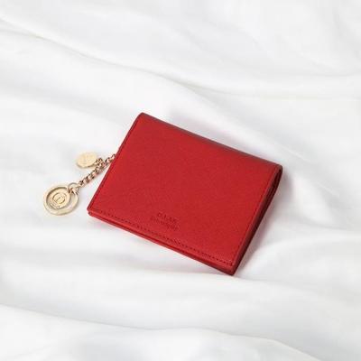 [별자리키링 증정] Minette Half Wallet - Red