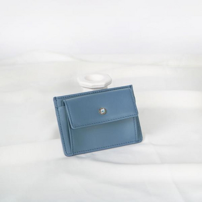 (탄생석지갑) Blumen Pocket Card Wallet - Blue