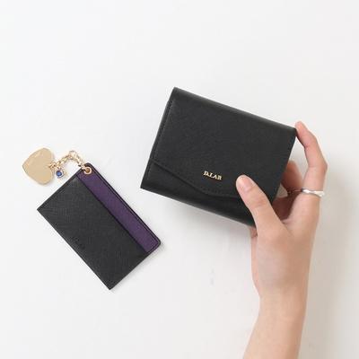 D.LAB 엘린 3단 중지갑 (4colors) [월렛in월렛 : 키링+카드지갑]