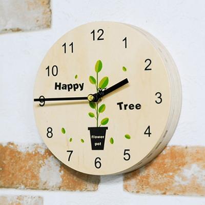 포인트 해피트리 자작나무 벽시계