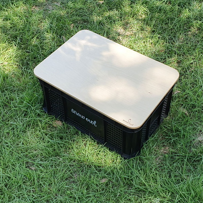 스노우아울 멀티 캐리박스 수납박스+기본형 우드상판