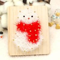 스트링액자(소)-크리스마스 눈사람