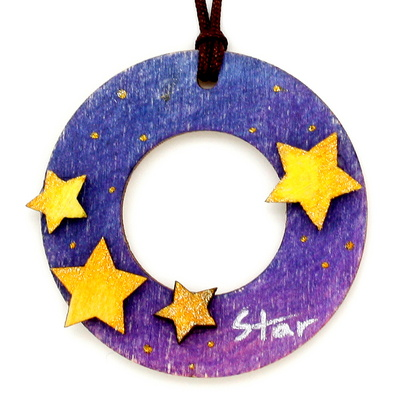 크리스마스 목걸이 만들기-별