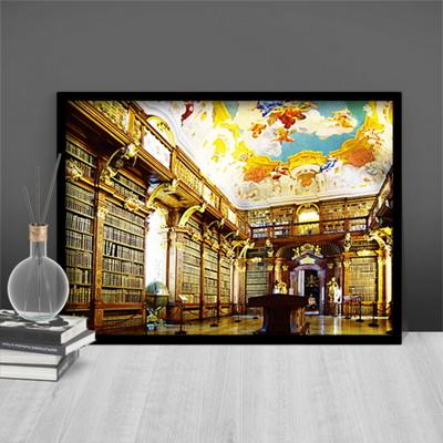 1000조각 직소퍼즐 - 럭셔리한 멜크 수도원의 도서관 (PK1000-3108)