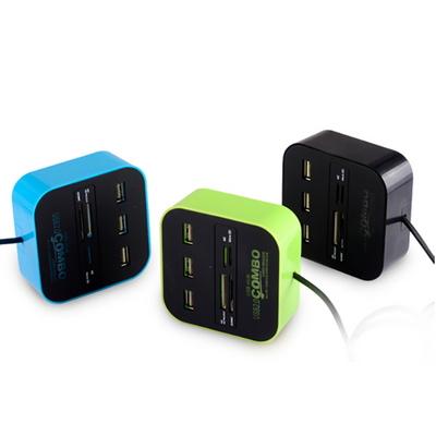 빠띠라인 콤보 USB허브 SD카드 리더기 7in1