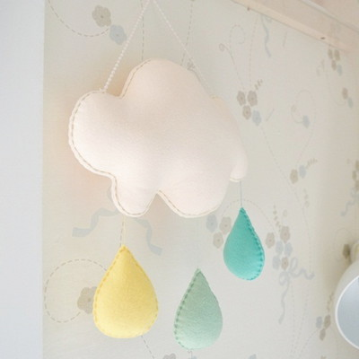 구름모빌 벽장식 diy