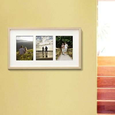 에코민트 원목 5x7-3갤러리 사진 액자 (일반보정+무광코팅+사진인화료 포함)