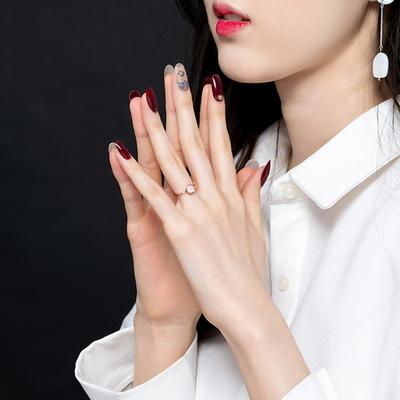 베르니아옹글스 리얼 젤네일팁 - 로즈 버건디