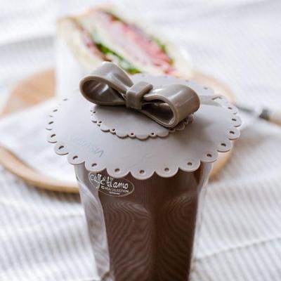 모노그레이 리본 컵덮개