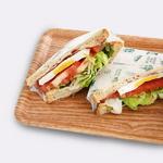 [비스비바] 튼튼한 나뭇결 무늬 샌드위치 쟁반