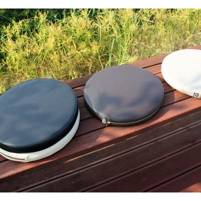 젠 솜포함 가죽 원형 방석 - 4칼라  자체제작