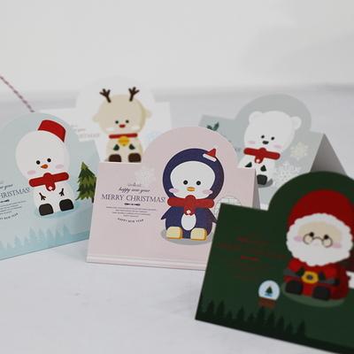 아이씨엘 크리스마스  카드 세트- Winter friend 10set