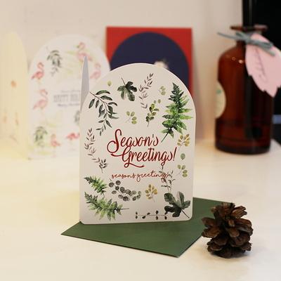 아이씨엘 크리스마스 카드 세트 -botanical 6set