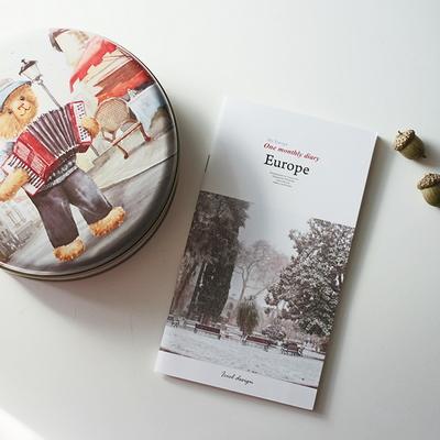 아이씨엘 한달 다이어리 -유럽 6set (만년형)