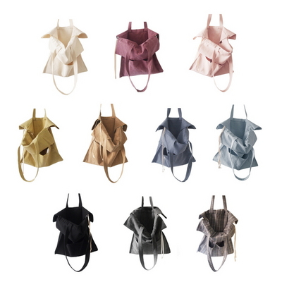 노리 무지 코튼에코백 -10colors  cotton shirring bag-10color