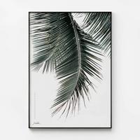 메탈 식물 보타니컬 인테리어 포스터 액자 나뭇잎E_대형