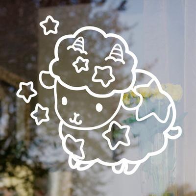 그래픽스티커 양 별자리 빅아이콘