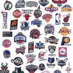 NBA 팀로고 43종 세트 캐리어 데코 리폼 방수스티커